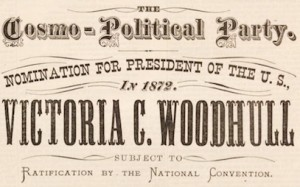 A Woodhull presidential campaign flyer