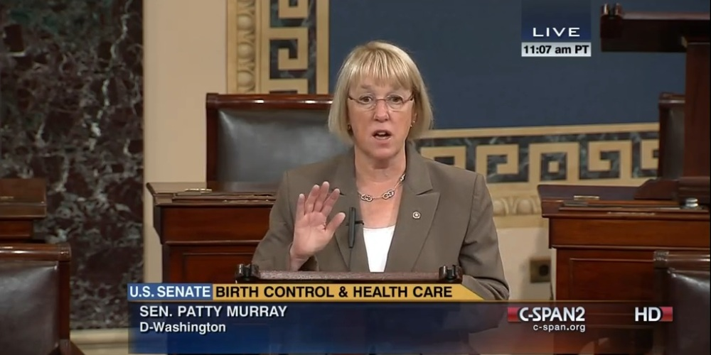 """Women should call the shots when it comes to their health care decisions.[…] Not anyone else—period."" Sen. Patty Murray (D-WA), July 16, 2014"